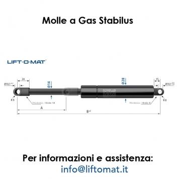 Molle a gas Stabilus LIFT-O-MAT 14mm x 28mm
